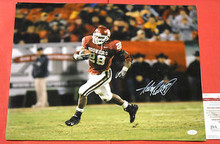 ADRIAN PETERSON AUTOGRAPHED 16X20 OKLAHOMA SOONERS PHOTO OU JSA VIKINGS