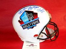 AUTOGRAPHED NFL HALL OF FAME FS RB HELMET JIM BROWN OJ SIMPSON ERIC DICKERSON AA