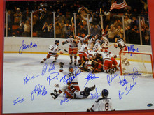 MIRACLE ON ICE 1980 USA HOCKEY AUTOGRAPHED 16X20 PHOTO CRAIG ERUZIONE OLYMPIC S