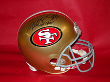 ALDON SMITH AUTOGRAPHED SAN FRANCISCO 49ERS FS HELMET THE TRUTH INSC TRISTAR
