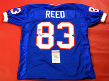 ANDRE REED AUTOGRAPHED BUFFALO BILLS JERSEY JSA 2 INSCRIPTIONS