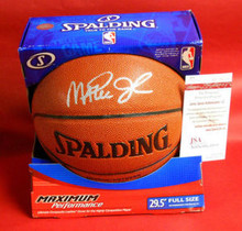 MAGIC JOHNSON AUTOGRAPHED NBA BASKETBALL LOS ANGELES LAKERS JSA