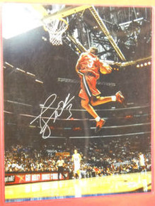 DWYANE WADE AUTOGRAPHED MIAMI HEAT ALL STAR DUNK 16X20 PHOTO AAA