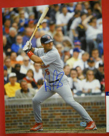 ALBERT PUJOLS AUTOGRAPHED ST. LOUIS CARDINALS 16X20 PHOTO AAA