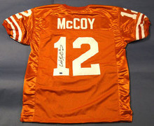 COLT McCOY SIGNED TEXAS LONGHORNS JERSEY GTSM BROWNS