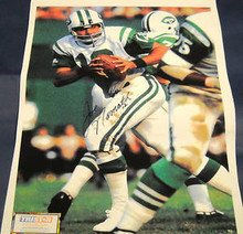JOE NAMATH NEW YORK JETS SIGNED 22X32 CANVAS TRISTAR