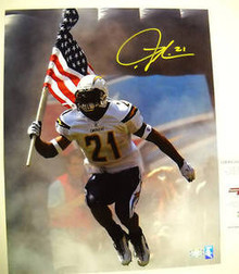LaDAINAIN TOMLINSON SD CHARGERS SIGNED 16X20 PHOTO AAA
