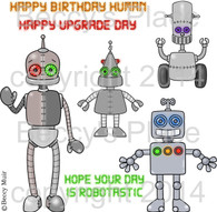 Itty Bitty Botz digital stamps