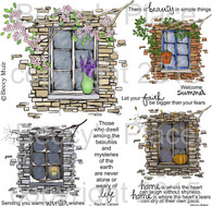 Seasonal Window digital stamps