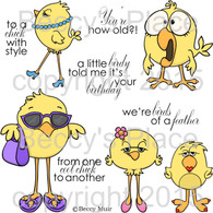 Cool Chicks digital stamps