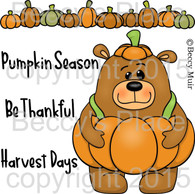 Stanley Pumpkin digital stamps