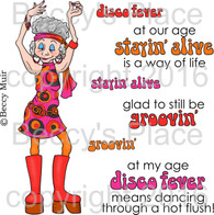 Disco Fever digital stamps
