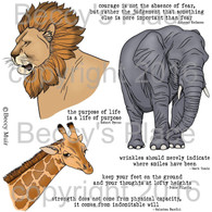 Safari digital stamps