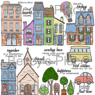 My Neighbourhood digital stamps