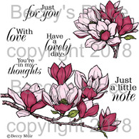Magnolias digital stamps