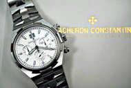 VACHERON CONSTANTIN 49150/B01A OVERSEAS S/S CHRONOGRAPH w/BOX & PAPERS pre-owned FOR SALE HOUSTON FABSUISSE VINTAGE