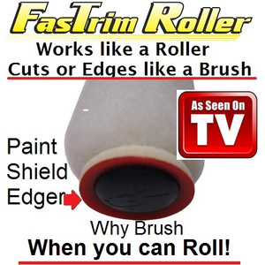 """•World's first roller that edges like a brush •PaintShield cover allows quick edging or cut-in around doors, windows, ceilings, and trim •Eliminates 2nd pass or cut-in on same color or maintenance paint jobs – NO brush work •Eliminates 2nd pass or cut-in on 2nd coat of a color change paint job •Rollers are 3"""" in length with a 3/8"""" lint free nap •Roller stays fresh if used with FasTrim Roller Air Tight Tray & Lid"""
