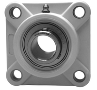 """1"""" Stainless Steel Thermoplastic Four Bolt Flange Bearing SSUCF205-16-TP"""