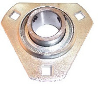 "1-1/8"" Pressed Steel Three Bolt Flange Bearing SBSTR206-18"