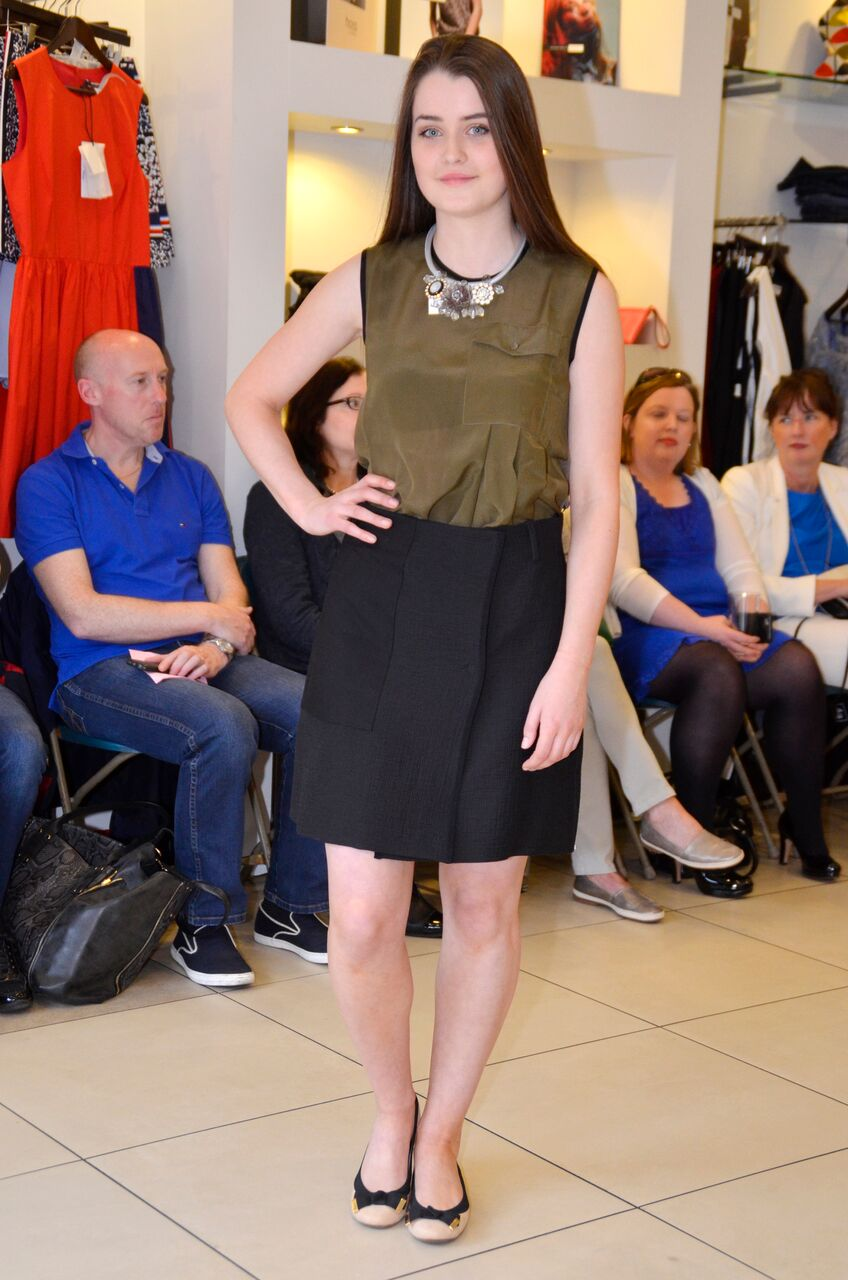Sportmax Code Khaki top and Mikro Skirt