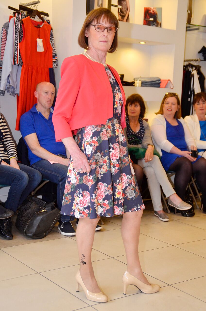 Dress by Aideen Bodkin Floral Skater Dress and Cropped Coral Jacket