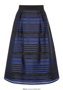 Fee G navy and black full midi length skirt perfect for winter weddings and parties with the matching navy or black top
