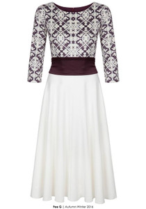 Fee G Obi Dress Burgundy