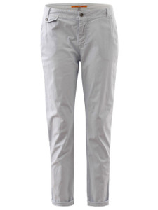 Hugo Boss Orange Chinos in blue are ankle length with pockets
