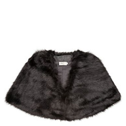 Luxurious faux fur black cape perfect for Special occasions