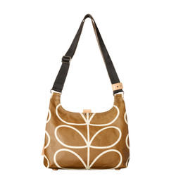 Orla Kiely Giant Linear Stem Sling Bag Camel
