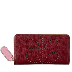 Berry leather wallet