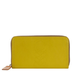 Orla Kiely Yellow Leather Wallet