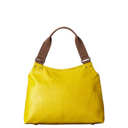 Yellow leather Orla Kiely Bag