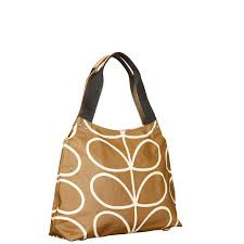 Orla Kiely Giant Linear Shoulder Bag Camel