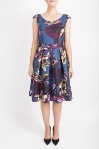 Floral full skirt dress for winter