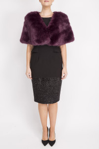 Aideen Bodkin Fur Cape Purple