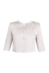 Fee G Cropped Jacket Silver