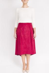 FeeG Laser Cut Skirt  Berry