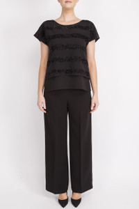 Fee G Wide Leg Trousers Black