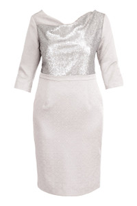Fee G Sequin Silver Dress