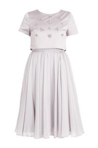 Fee G Beaded Dress Grey