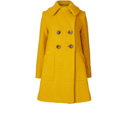 Yellow Double Breasted Winter Coat