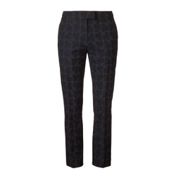 Orla Kiely Navy and Black Slim Fit Trousers