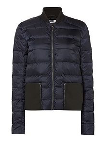 Sportmax Code Quilted Navy Jacket