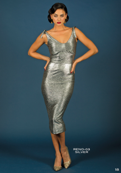 Silver Rene Dress by Stop Staring