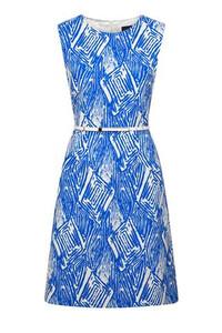 Fee G blue belted Dress