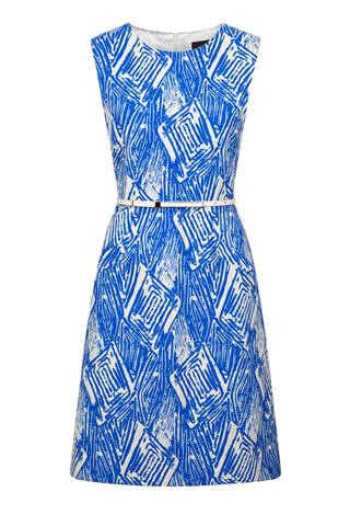 Fee G blue belted Dress