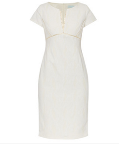 Caroline Kilkenny Pandora  Cream Snake Dress