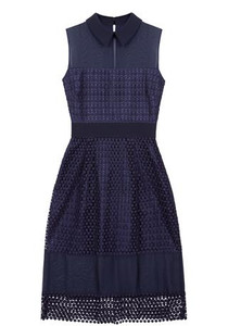 Navy lace dress by Fee G available in Anastasia Boutique