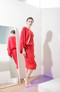 Caroline Kilkenny Venus Raspberry Dress